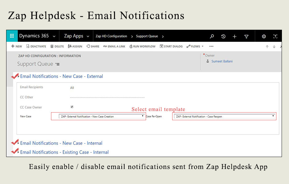 Zap Helpdesk - Email to Case - Zap Objects