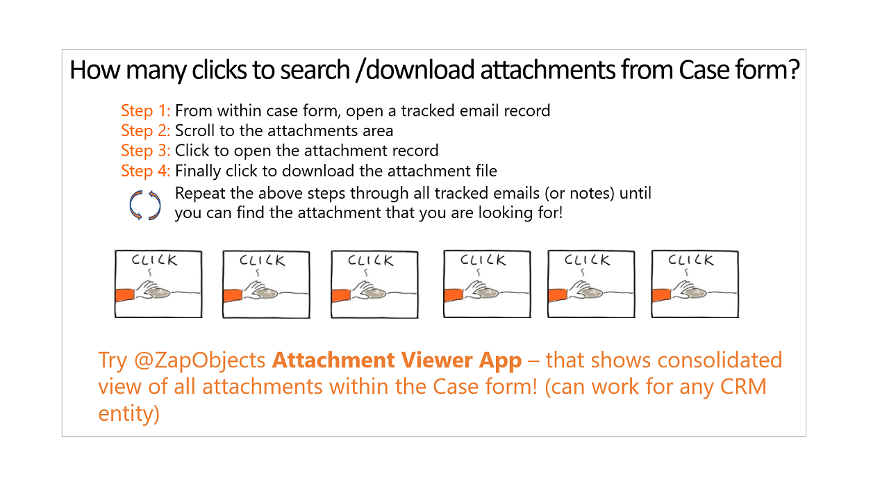 How to view consolidated list of all attachments within the case